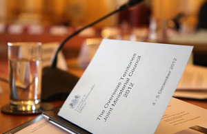 UK and Overseas Territories Joint Ministerial Council
