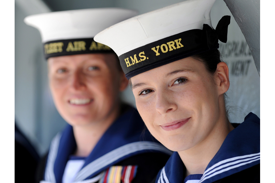 Leading Aircraftwoman Alex Pickles and Able Seaman (Air Engineer Technician) Hannah Leask