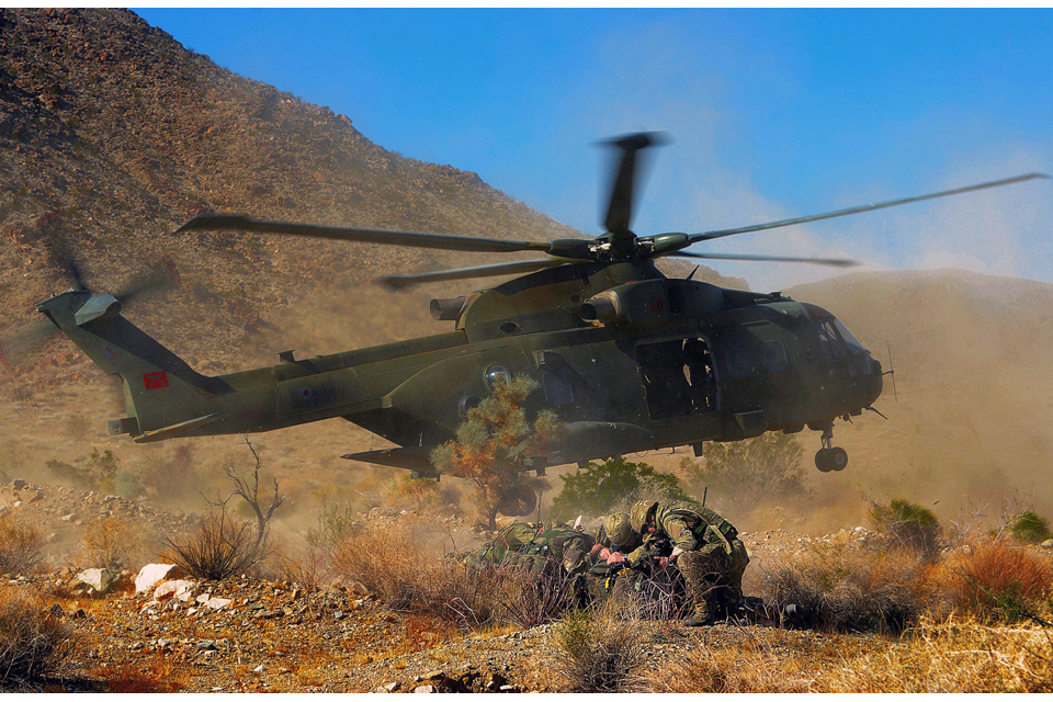 Helicopter insertion