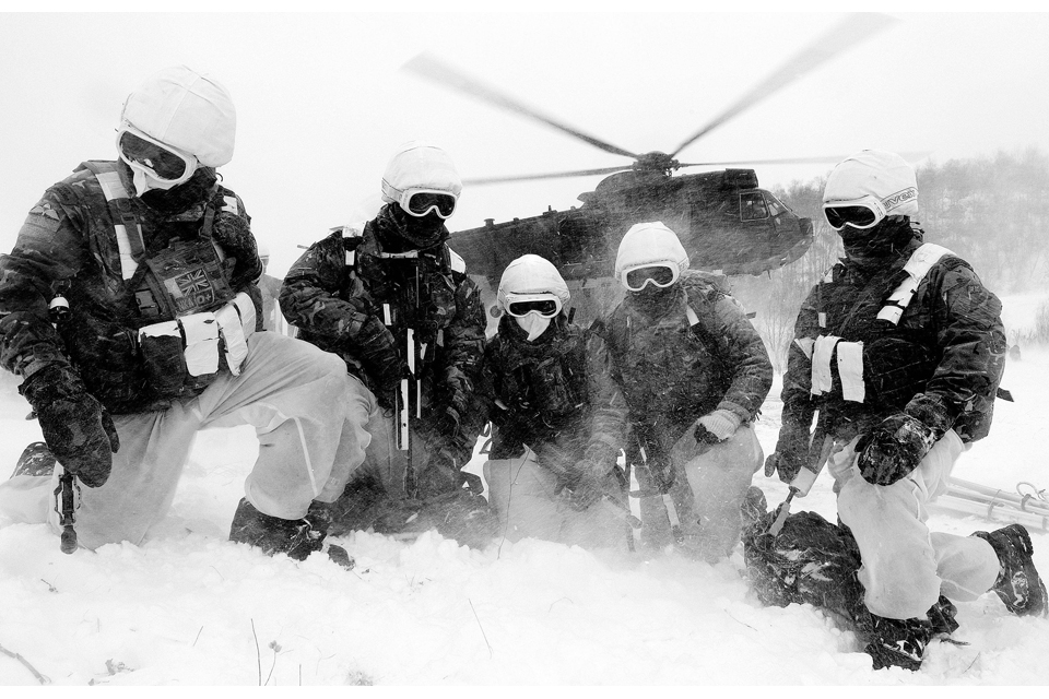 The final exercise of a cold weather warfare course in Norway