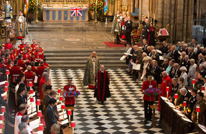 Service of thanksgiving at Westminster Abbey