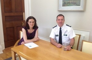 Theresa Villiers and PSNI Chief Constable Matt Baggott