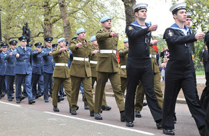 Armed Forces personnel on parade (stock image) [Picture: Leading Airman (Photographer) Abbie Herron, Crown Copyright]