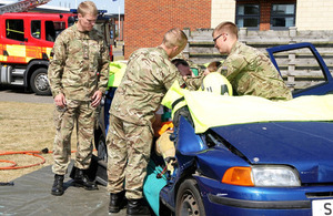 Members of 16 Medical Regiment practise car-cutting at Merville Barracks, Colchester [Picture: Crown copyright]
