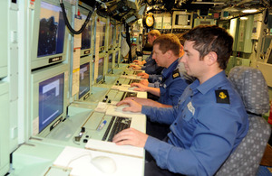 Royal Navy submariners at work