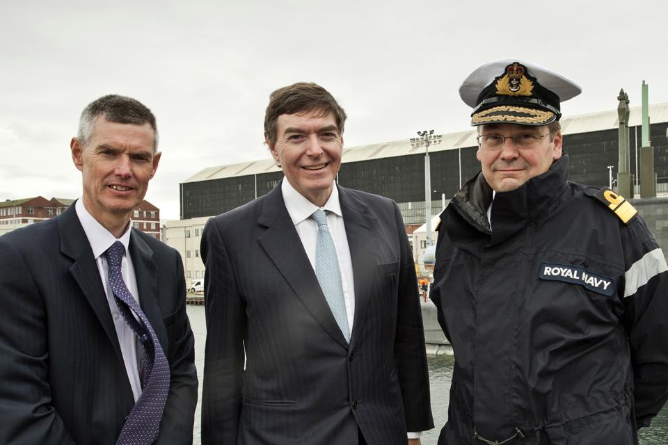 John Hudson, Philip Dunne and Rear Admiral Simon Lister