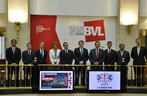 Lord Mayor at the Lima Stock Exchange