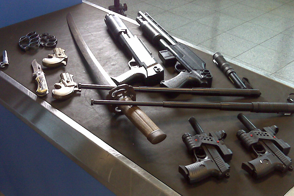 Weapons seized at Manchester Airport
