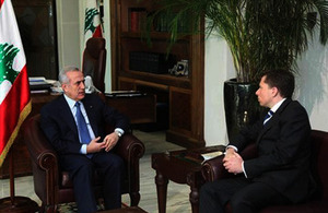 Ambassador Fletcher with President Sleiman
