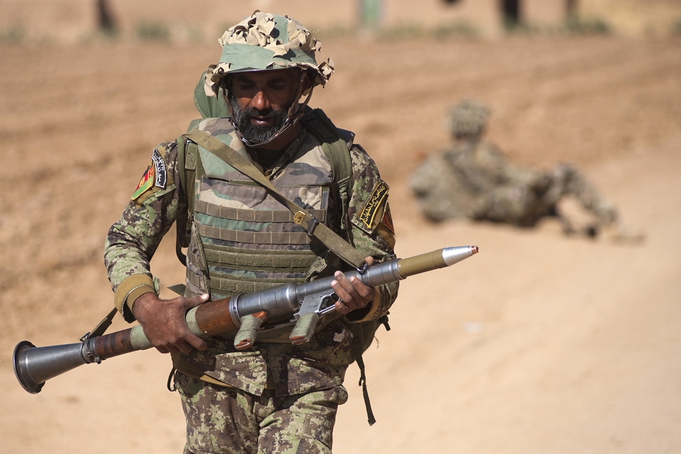 An Afghan National Army warrior