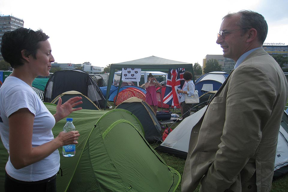 British Embassy consular team at EXIT village camp