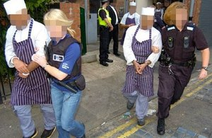 Sri Lankan illegal workers arrested in the UK