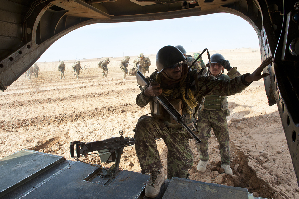 Soldiers from the Afghan National Army's 3/215 Brigade