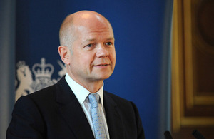UK Foreign Secretary William Hague arrives in Pakistan on an official visit.