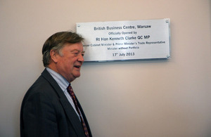 Minister Clarke having unveiled the British Business Centre