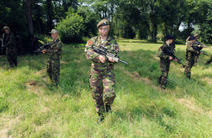 Cadet Lance Corporal Aleksandra Czartolomna leads a patrol [Picture: Richard Watt, Crown copyright]