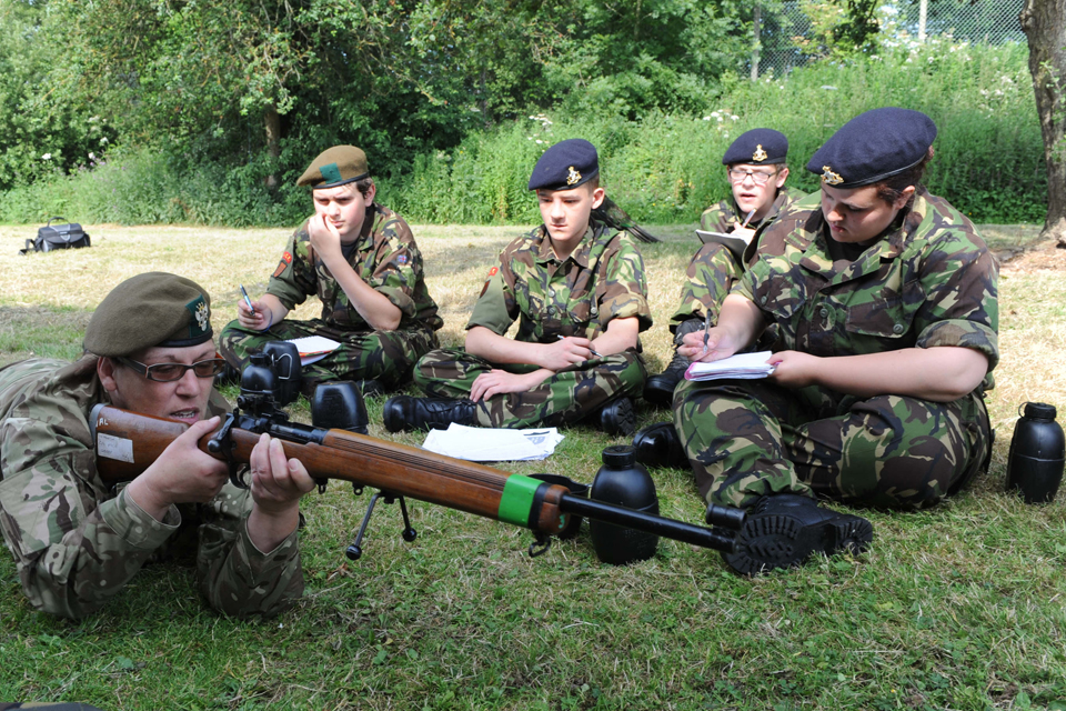 Staff Sergeant Instructor Trisha Helsby demonstrating the No 8 Rifle