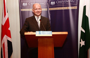 Foreign Secretary marks Chevening Scholarship's 30th anniversary in Pakistan