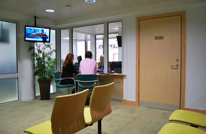 Waiting room at British Consulate in Alicante