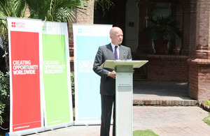 British Foreign Secretary announces plans to reopen the British Council Library in Lahore as part of its expanded commitment to work in the Punjab