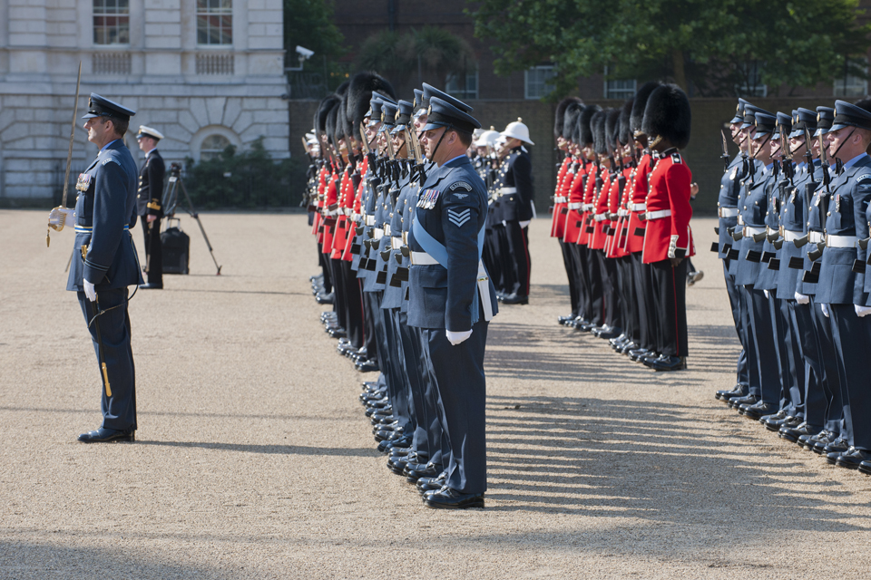 Armed Forces personnel on parade