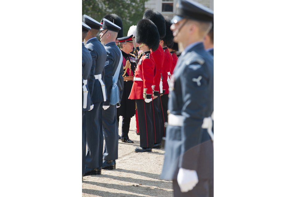 General Sir David Richards inspecting the Armed Forces detachments