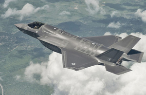 The UK's first F-35 Lightning II during a test flight (library image) [Picture: Courtesy of Lockheed Martin]