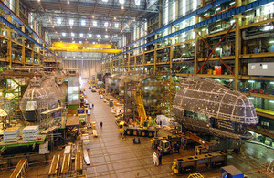 Astute Class attack submarines under construction at Barrow-in-Furness (library image) [Picture: BAE Systems]