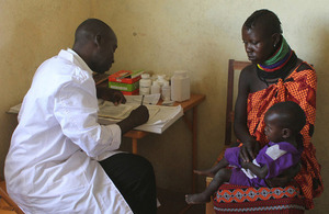 A mother and child at a health clinic in Turkana. Picture: Noor Khamis/ Department for International Development