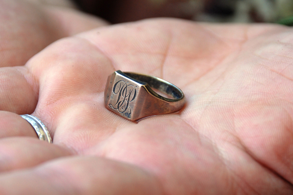 A ring belonging to Flight Sergeant David Perkins