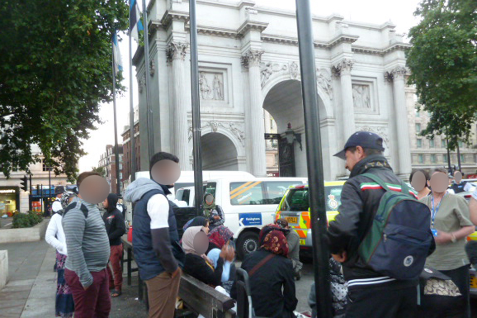 immigration enforcement officers join police in early morning operation in London targetting rough sleepers