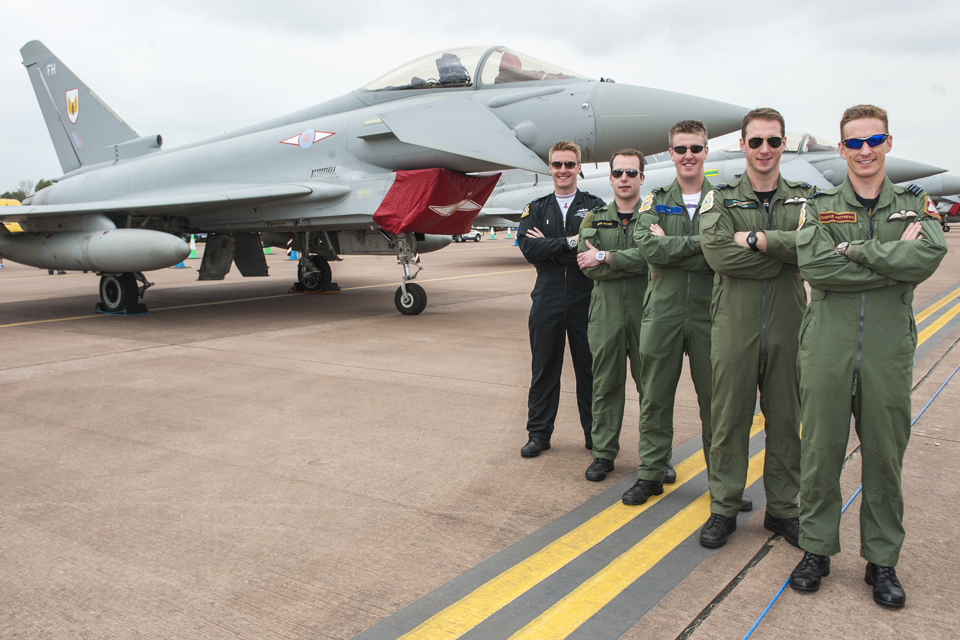 Pilots from 5 of the RAF's 6 Typhoon squadrons