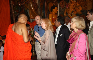The delegation visited Colombo's iconic Gangaramaya temple