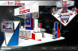 UK British Pavilion stand designed by Innogen for UKTI