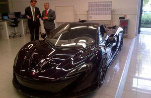 The new McLaren P1, a hybrid-electric supercar.