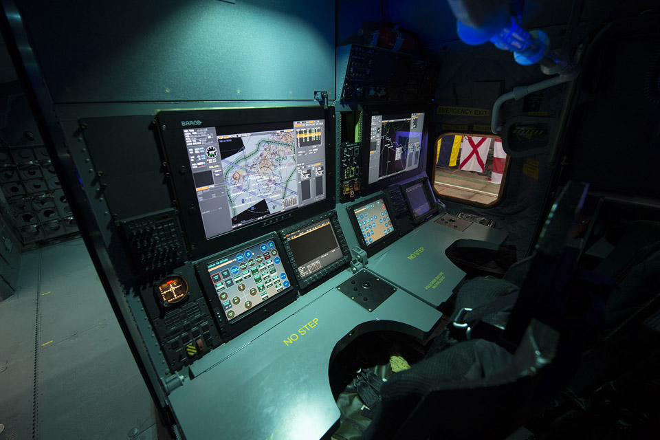 The observer's panel inside a new Merlin Mk2