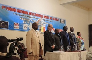 Opening ceremony of the Civil Society National Forum, Kinshasa, Democratic Republic of Congo, 17 July 2013