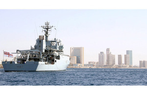 HMS Echo off Tripoli [Picture: Crown copyright]