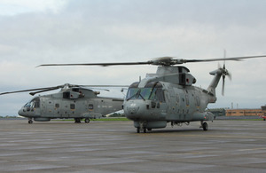 Royal Navy Merlin helicopters