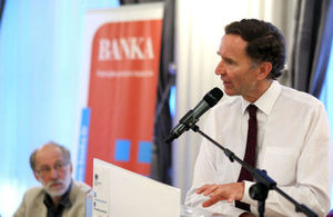 """Lord Green talks at the lecture """"Stimulating economic recovery - UK best practice models"""""""