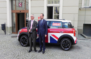 Ambassador Robin Barnett with Marshall Marek Sowa and a GREAT Mini Countryman
