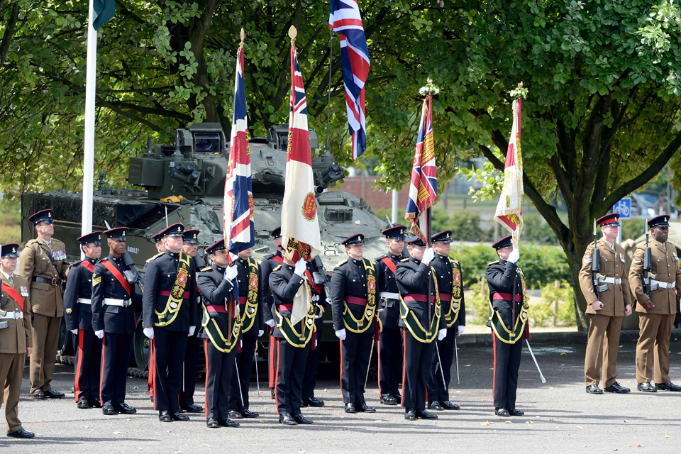 The Yorkshire Regiment's Colours