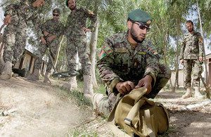 Afghan warriors training