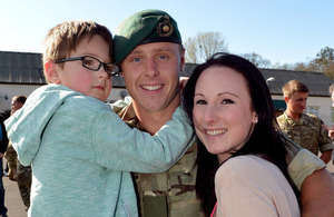 A Royal Marine with his family (stock image) [Picture: Leading Airman (Photographer) Gary Weatherston, Crown copyright]