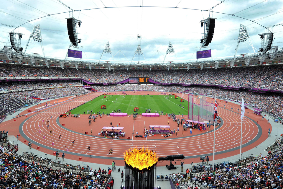 The Olympic Stadium. Photo: Martin Rickett/PA Wire.