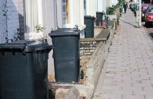 Row of bins.