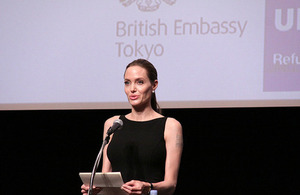 Angelina Jolie delivers speech in Tokyo on Preventing Sexual Violence in Conflict