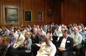 Audience at UKTI-RICS conference - more than 50 UK firms represented