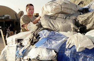 A first check on mail delivered to the Camp Bastion Post Office