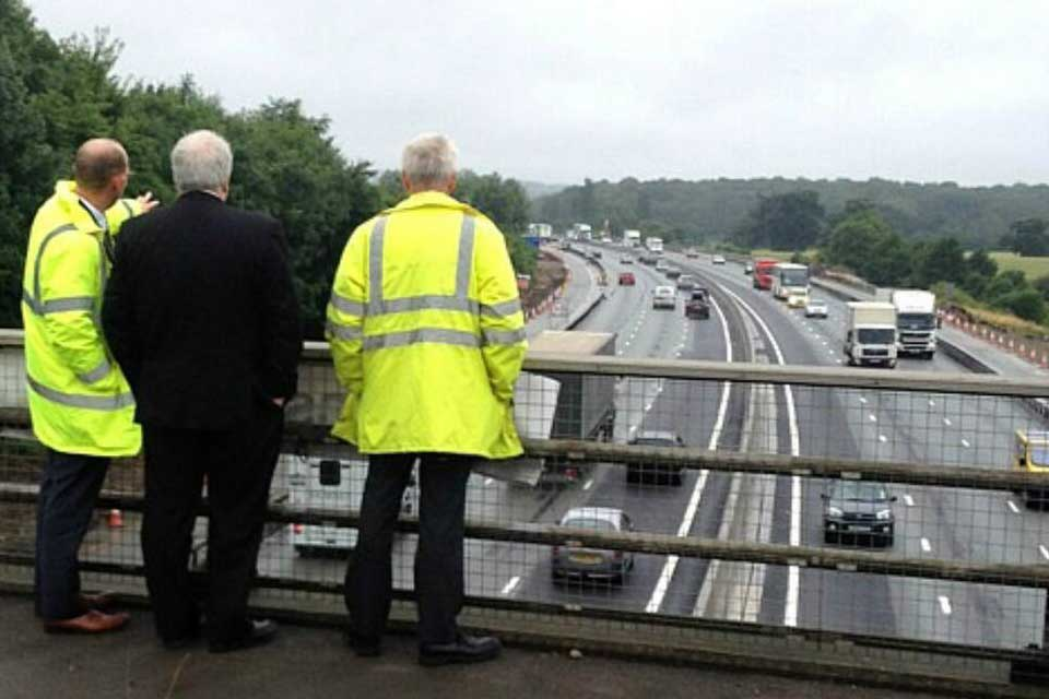 Transport Secretary Patrick McLoughlin at the M25